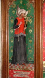 Juliana of Norich in the Church of SS Andrew and Mary, Norfolk. Photo (c) 2007 Evelyn Simak.