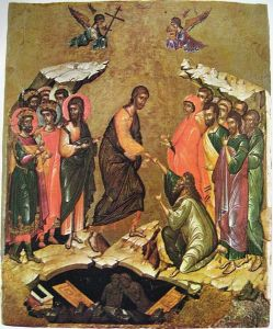 Russian Icon: The Harrowing of Hell (Pascha--The Resurrection)