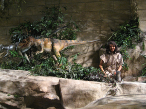 An idyllic diorama at the Creation Museum