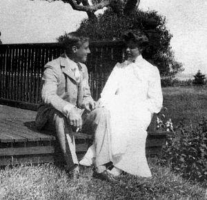 Franklin and Eleanor at Campobello Island, Canada, in 1904