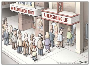 People choose to remain ignorant! © Clay Bennett, the Christian Science Monitor