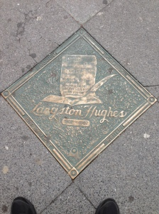 Langston Hughes Plaque on 135th St.