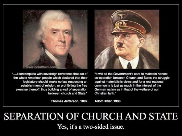 Why we have Separation of Church and State. (And, yes, I know Jefferson hated the Jesuits!)