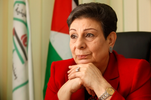 Palestinian politician Hanan Ashrawi, member of Palestinian Prime Minister Salam Fayyad's Third Way party, seen in her office in the West Bank city of Ramallah. Ashrawi is the first woman elected to the Palestinian National Council. January 31, 2012. Photo by Miriam Alster/FLASH90 *** Local Caption ***