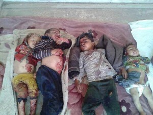 Yezidi Children murdered by ISIL in Syria