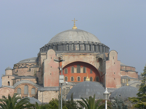 The Church of Holy Wisdom (Hagia Sophia) as it would have looked at the height of