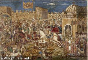 Constantine XI at the Walls of Constantinople