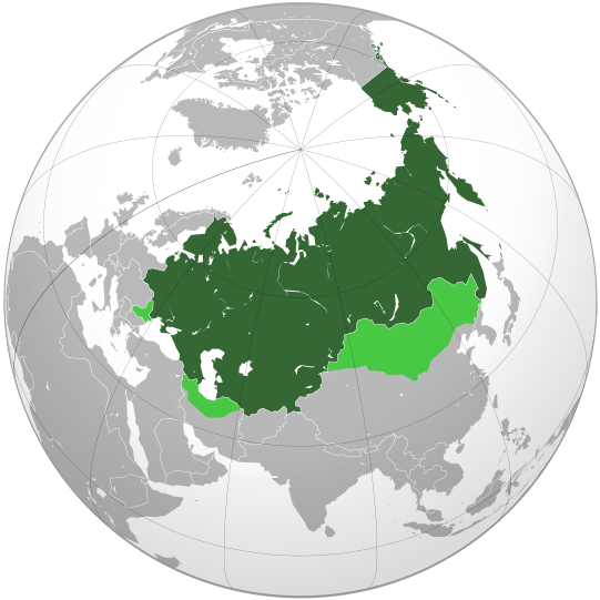 The territories that were at one time or another part of the Russian Empire. © 2014 Shadowfox / Wikimedia Commons.