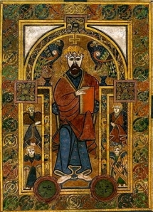 From the Book of Kells, Celtic Christian Gospel Book (ca. 800)