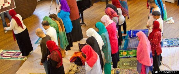 Progressive LGBT-friendly Muslim Prayers at a DC Mosque, led by women.