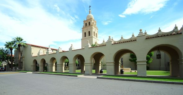 """Brophy College and Chapel"" © by Kabugenyo"
