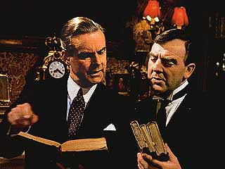 Lord Peter and Bunter (Ian Carmichael and Glyn Houston) from a BBC TV Production.