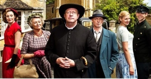 Father Brown and cast from the current BBC series © BBC