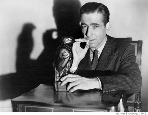 Humphrey Bogart as Sam Spade in The Maltese Falcoln.