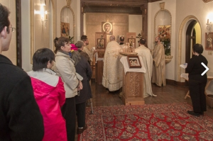 Divine Liturgy (one of the Holy Mysteries) at Our Lady of Fatima Russian Byzantine Catholic Church in San Francisco: visit them!