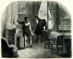 "Illustration to ""The Purloined Letter"" by E. A. Poe."