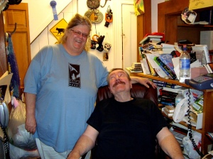 Kate Mattes and Robert B. Parker at her bookstore.