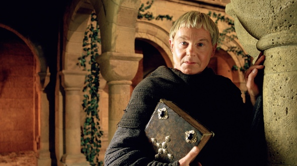 Derek Jacobi as Brother Cadfael in the ITV production.