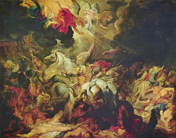 "Peter Paul Rubens, ""Destruction of Sennacherib"""