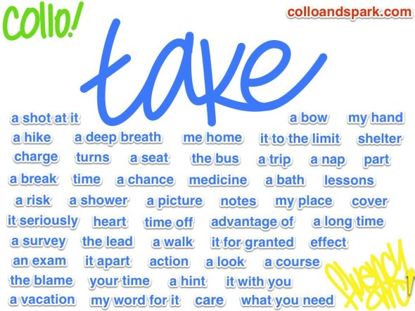'Take' collocations