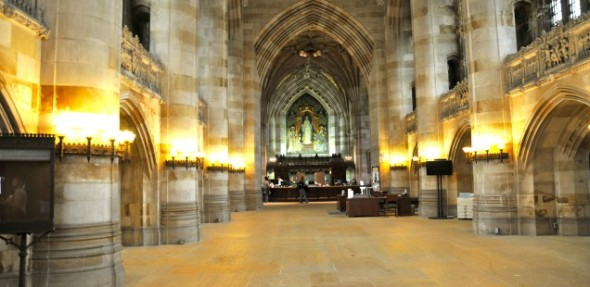 Sterling Memorial Library at Yale, clearly a Temple of Learning!