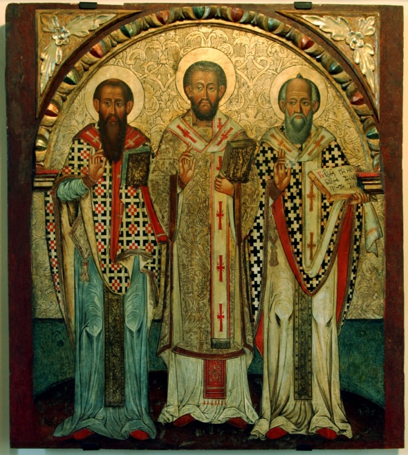 The Three Holy Hierarchs: Basil, John Chrysostom and Gregory the Theologian