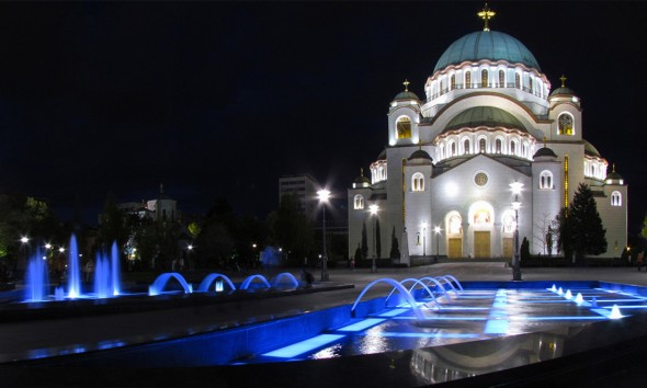 St. Sava's Orthodox Cathedral, Belgrade, modeled on Hagia Sophia in Constantinople.